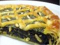 crostata di spinaci ricotta e pinoli