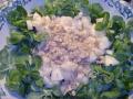 insalata di songino taleggio pere e noci