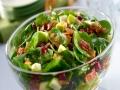 insalata di spinacino mela noci e speck