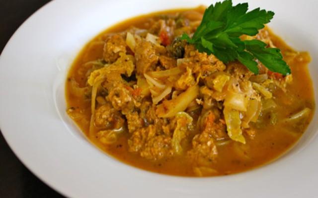 zuppa di verza e salsiccia